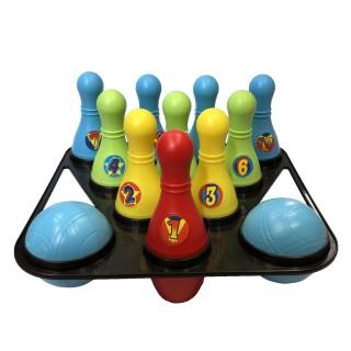 Jeu de Bowling enfant - 10 Quilles et 2 Boules - Plastique