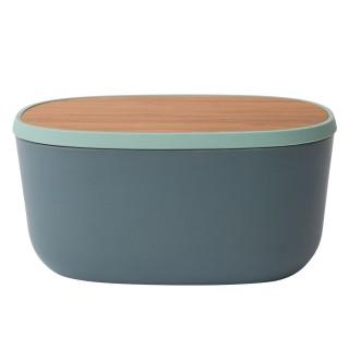 Boîte à pain avec planche intégrée - 31 x H. 15 cm - Gris