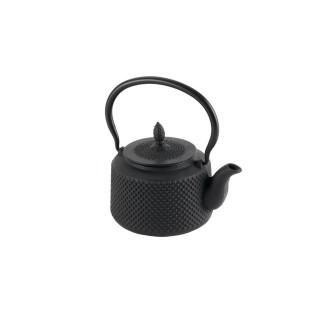 Théière à filtre en fonte - 0,85 L - Noir