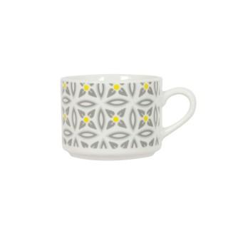 Tasse en porcelaine Aristo - Blanc décoré