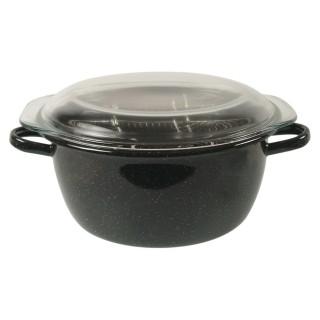 Friteuse en acier avec plat en verre Mstyl - Diam. 26 cm - Tous feux