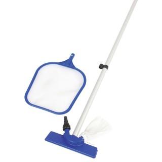 Kit de nettoyage manuel pour piscine - Epuisette et aspirateur