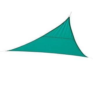 Toile solaire / Voile d'ombrage triangulaire Curacao - 5 x 5 x 5 m - Bleu émeraude