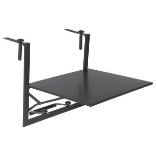 Tablette de balcon pliante 2 personnes Baltra - 60 x H. 56 cm - Noir graphite