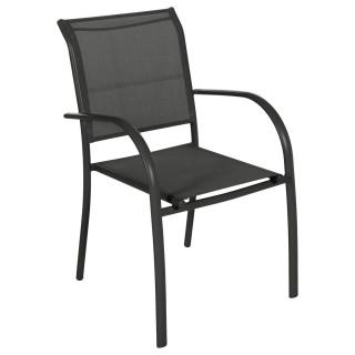 Chaise de jardin Piazza - H. 88 cm - Noir