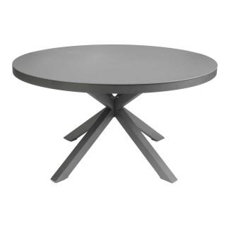 Table de jardin ronde 6 Personnes Malaga - Diam. 140 cm - Anthracite