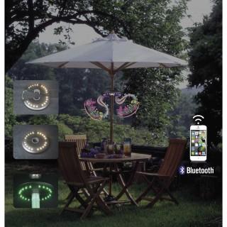 Enceinte lumineuse pour parasol - Bluetooth