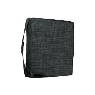 Galette de chaise - 40 x 40 cm - Noir chiné