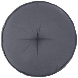 Coussin de sol rond Amélie - Diam. 45 cm - Bleu gris