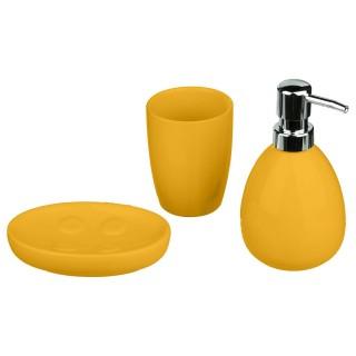 Coffret accessoires de salle de bain Sun - 3 Pièces - Jaune