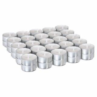 50 Bougies chauffe plat - Blanc