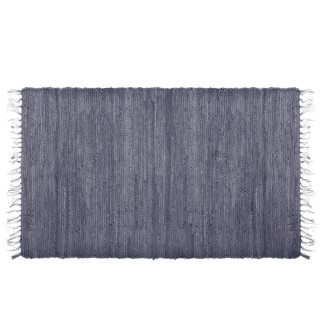 Tapis à franges Factory - 140 x 70 cm - Gris foncé