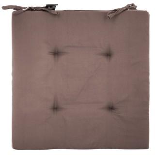 4 Galettes de chaise - 40 x 40 cm - Taupe