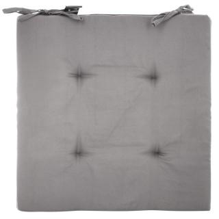 4 Galettes de chaise - 40 x 40 cm - Gris clair