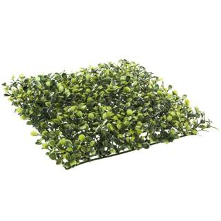 Carré de buis artificiel - 25 x 25 cm - Vert
