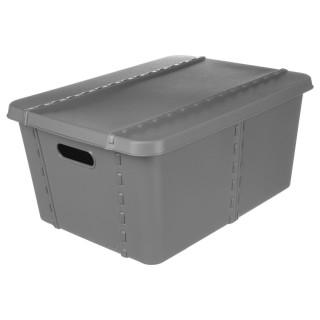 Boîte de rangement Shop - 40 x H. 18 cm - Gris