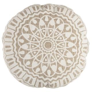 Coussin de sol ethnique Nomade - Diam. 50 cm - Beige
