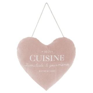 Cœur à suspendre Cuisine Garden - Diam. 18 cm - Rose