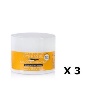 Lot de 3 - Masque capillaire à la Kératine Liquide - Cheveux Secs - 250 ml