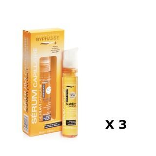 Lot de 3 - Sérum capillaire Protect Cheveux - Cheveux Secs, Ternes Et Abimés - 50 ml