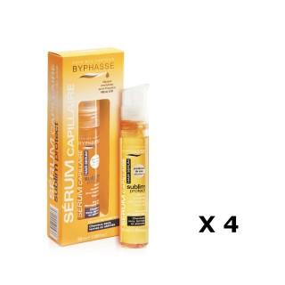 Lot de 4 - Sérum capillaire Protect Cheveux - Cheveux Secs, Ternes Et Abimés - 50 ml