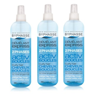 Lot de 3 - Démêlant express Activ Boucles - Cheveux Bouclés - 400 ml