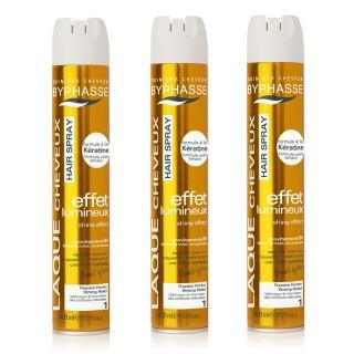 Lot de 2 - Laque pour brushings Effet Naturel - Fixation extra forte - 400 ml
