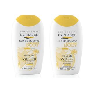 Lot de 2 - Lait de douche Caresse Fleur de vanille - Tous types de peaux - 500 ml