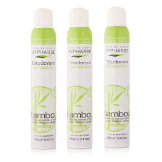 Lot de 3 - Déodorant Spray 24h - Bambou - 250 ml