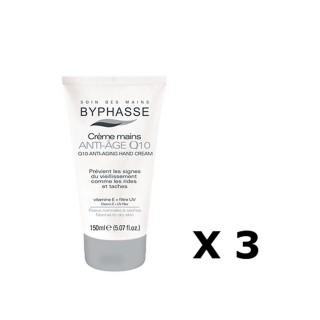 Lot de 3 - Crème pour les mains Anti-âge Q10 - Peaux sèches - 150 ml