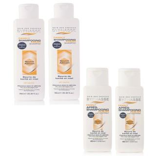 Lot de 2 Shampooing 750 ml et après-Shampooing  400 ml Family - Cheveux secs et abîmés