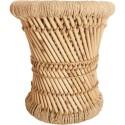 2 Tables gigognes en bambou et corde Nomade - Diam. 30/38 cm - Marron