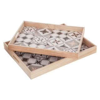 Décorez votre salon ou cuisine dans un style scandinave avec ces deux plateaux au design chaleureux.