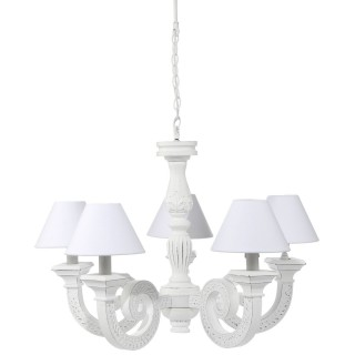 Suspension Romantique - Diam. 80 cm - Blanc
