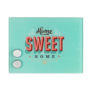Boîte à clés magnétique Home Sweet Home - 20 x 15 cm - Bleu vert