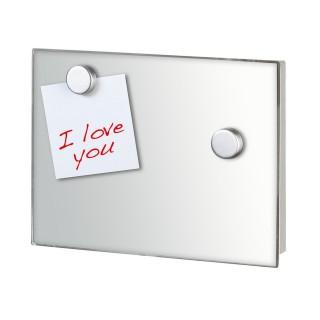 Boîte à clés magnétique Miroir - 20 x 15 cm - Transparent
