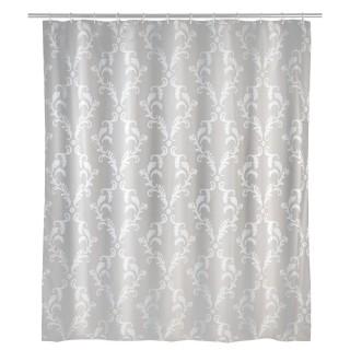 Rideau de douche anti-moisissure Baroque - Polyester - 180 x 200 cm - Gris