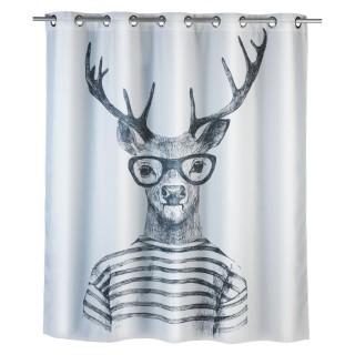 Rideau de douche anti-moisissure Cerf - Polyester - 180 x 200 cm - Gris