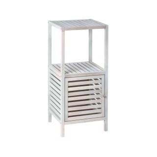 Etagère de salle de bain 3 Niveaux Norway - H. 86 cm - Blanc vieilli