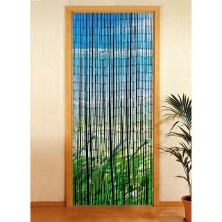 Rideau de porte déco Côte - Bambou - 90 x 200 cm - Multicolore