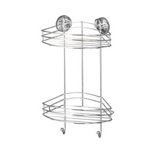 Etagère de douche ou baignoire en métal - 2 Paniers - 23 x H. 43 cm