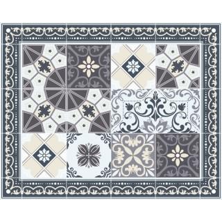 Tapis Vinyle rectangulaire Céleste - 100 x 80 cm - Gris