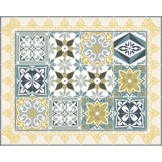 Tapis Vinyle rectangulaire Valentine - 100 x 80 cm - Jaune