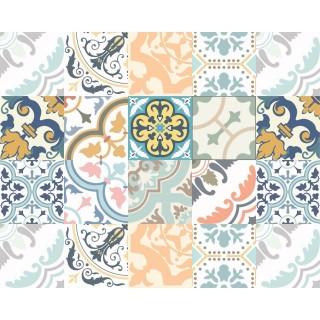 Tapis Vinyle rectangulaire Jade - 100 x 80 cm - Bleu