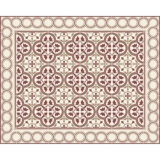 Tapis Vinyle rectangulaire Noémie - 100 x 80 cm - Bordeaux