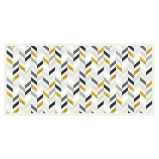 Tapis Vinyle rectangulaire Calcite - 100 x 80 cm - Blanc