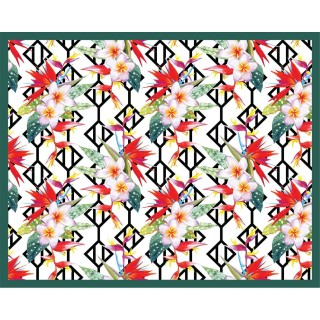 Tapis Vinyle rectangulaire Corfu - 100 x 80 cm - Rouge