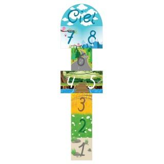 Tapis Vinyle enfant Marelle - 60 x 200 cm - Multicolore