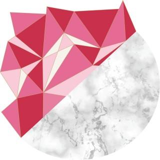 Tapis Vinyle déco scandinave Aventurine - Diam. 100 cm - Rose