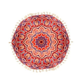 Coussin rond Mandala - Diam. 45 cm - Rouge